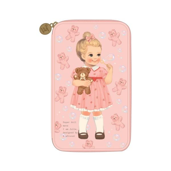 [아프로캣]paper doll mate multi pen pouch L ver.3_Julie