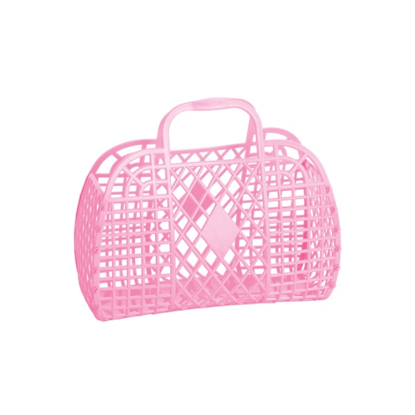 RETRO BASKET - Small Bubblegum Pink