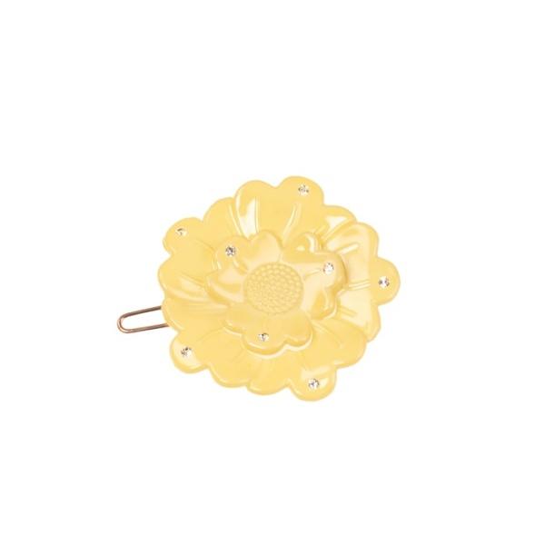 Small flower clip - Swarovski light yellow