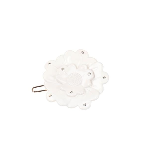 Small flower clip - Swarovski offwhite