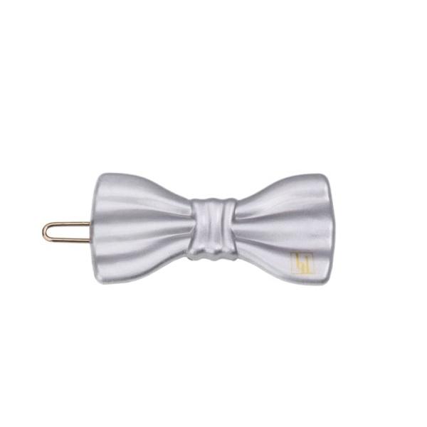 Small Bow clip - Silver gloss
