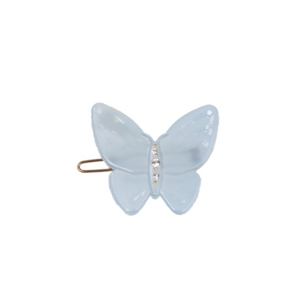 Butterfly clip light blue