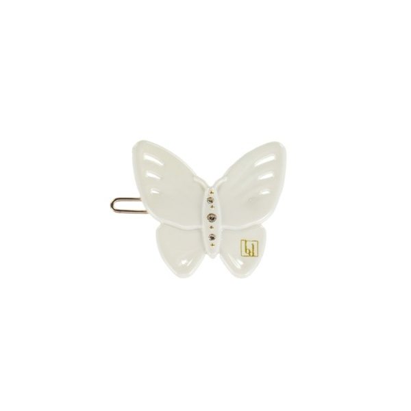 Butterfly clip Off white